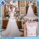 See Through Corset Lace Bodice Appliqued Cap Sleeve Used wedding dresses