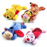 Soft Cute Friends Plush Pen Stationary Bag Tiger Eeyore zipper animal shaped pencil case