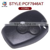 Wholesale Price car master key for Renault 2 Button 433MHz PCF7946AT Without Logo AK010009