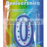 2015 hot sale different colour number candles with birthday party Candle different sized candles
