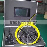 Pinpoint CCTV Rotating Camera 60m Push Rod Pan Tilt Drain Sewer Pipe Inspection Camera for Sale