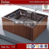 wooden barrel bath tub, inner acrylic mutil-function massage bathtub, indoor spa tub for whole family