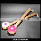 Factory Price Long Bamboo Handle Flower Shape Bath Brush