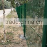 RAL6005 welded 50*200mm mesh nylofor 3D panel fences/PVC coated Bending welded mesh fence