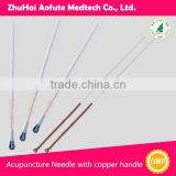Disposable Sterile Acupuncture Needles with Copper Handle