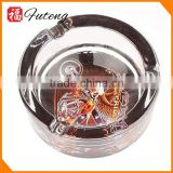 wholesaler tobacco jar cigar ashtray antique car crystal ashtray OEM round custom glass ashtray