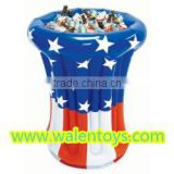 High quality gas filled inflatable beer ice bucket / beer bucket for water sports equipmen