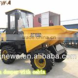 Best seller 5000KG Front Loading 4 wheel Mini Site Dumper