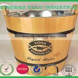 FSC and SEDEX audited factory price high quality wooden ice barrel ,wooden cooler barrel for sale