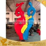 large size fiberglass carton clown sculpture for Christmas decoration