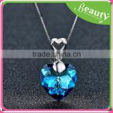 Crystal necklace pendant the heart of the ocean