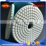 "3"" 100# diamond polishing pads velcro flexible marble granite concrete stone wet dry grinding floor disc"