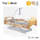 TOPMEDI homecare hospital products 5 function wooden electric hospital bed