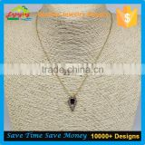 well made high quality polishing chunky layered charm clavicle chain necklaces jewelry with OEM or ODM service