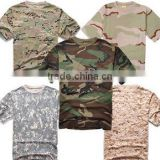 Hot sale men tactical 100% cotton camo t shirt Summer t shirts work shirts multi color fashion camo t-shirts