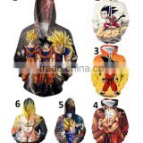 walson New Dragon Ball Z 3D Hooded 3 Son Goku Super Saiyan Hoodies Full Print Big Size