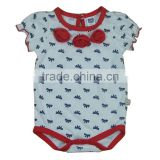 baby clothing 100% cotton,all over baby animal bodysuits, cartoon emboridery lace bodysuits baby