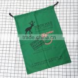 Wholesale canvas christmas santa sack north pole post office reindeer express sevice with drawstring gift