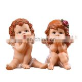 High quality two lovely cupid figure decoration for wedding gifts
