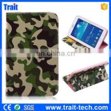 Camouflage Pattern Card Holder Flip Stand TPU+ PU Leather Case for Samsung Galaxy Tab 3 Lite T110/T111