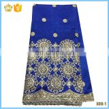 2016 Popular African George Lace Fabric Hot Sales With Sequins for bridal dress F16022521