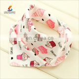 Fashion wholesale ice cream pattern baby bandana