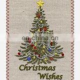 embroidery greeting card for chrismas birthday accept design