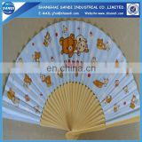 fashion wooden hand fan for gifts