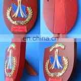 freedom democracy and peace in Iran wooden shield stand metal trophy plaques