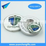 zinc alloy hard enamel magnetic poker chip ball marker 45mm