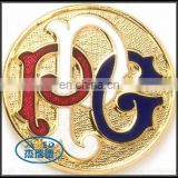 Shiny Finish Gold and Silver Color Metal Crafts Souvenir Coin for Sales