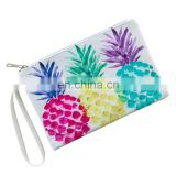PU Leather Pineapple Printed Pattern Coin Bag