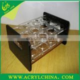Customized Acrylic wine glass holder plate with round hole for KTV