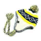 Hat Supplier Custom Earflap Cap Winter Ear Flap Beanie Hat with Two Strings