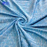 Loop gagt knitting thermal knit fabric knitted rib poly spandex knit fabric for garments