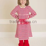 Cheap wholesale children boutique fall outfit 3 ruffle pants set in girls clothing casual design
