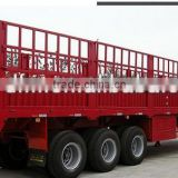 3 axles Dongfeng fence trailer/stake semitrailer/cargo truck trailer from china for sale
