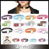 Wholesale Mix Color Leather Heart Shape BDSM Choker Necklace                                                                         Quality Choice