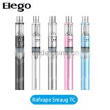 Alibaba wholesale ego vapor kit Rofvape Smaug TC Kit Rofvape Smaug ego starter Kit Rofvape Smaug TC Pen kit from Elego