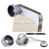 Poplar Universal -on 3 in 1 Fisheye Wide Angle Micro Camera Lens for mobile phone at factory price