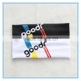 Promotion elastic cotton sports headband custom logo yoga headband unisex sweat headband