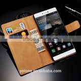 Luxury Vintage Stand Flip Wallet Cover/Genuine Leather Case For Huawei Ascend P8 With Card Pockets                                                                         Quality Choice