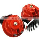 Snail Air Horn With cover Vehicle Marine Boat Loud Alarm Kit Red for Car Boat Motorcycle Van car horn HT-3009