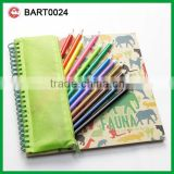 new sketch book color pencil kids stationery