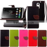For Lenovo Vibe X3 Leaf PU Leather Case, card holder leather case for Lenovo X3