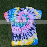 Thai tie dye handmade T-shirt Unique , Colorful and High quality original from Dobbytex Thailand