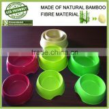 puppy food holder home product eco-friendly bamboo material pet bowl, bamboo fiber pet cat feeder pot