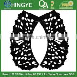 Laser Cutting Black Color PU Collar for Sweater -- S1415