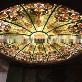 Cathedral Safety Digital Printed Glass price for stained glass interior ceiling domes Laminated Glass Skylight