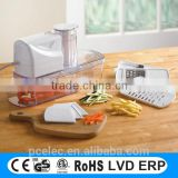 Multifunction Electric mandoline slicer, potato slicer as seen on tv with GS, CE approval